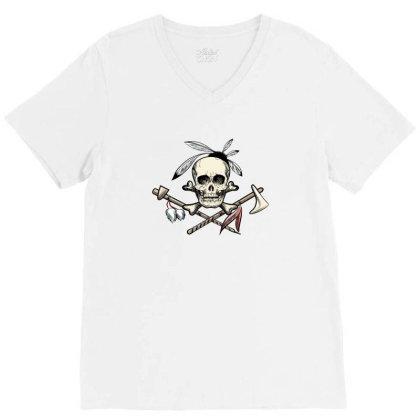 Skull V-neck Tee Designed By Estore