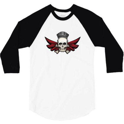 Skull 3/4 Sleeve Shirt Designed By Estore