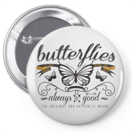 Butterflies Always Good Pin-back Button Designed By Estore