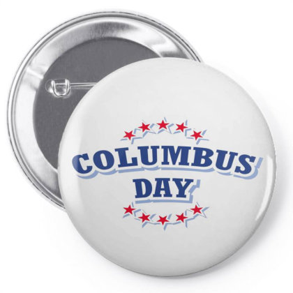 Happy Columbus Day Pin-back Button Designed By Estore