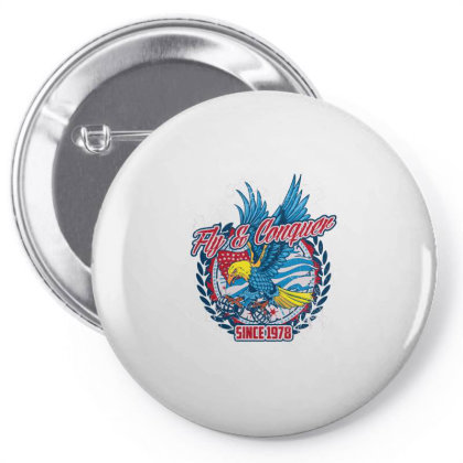 Fly & Conquer,  Since 1978, American Eagle, Usa Pin-back Button Designed By Estore
