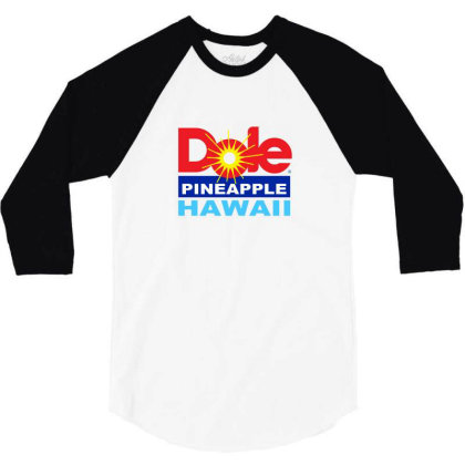 Dole Pineapple 3/4 Sleeve Shirt Designed By Studio Poco    Los Angeles