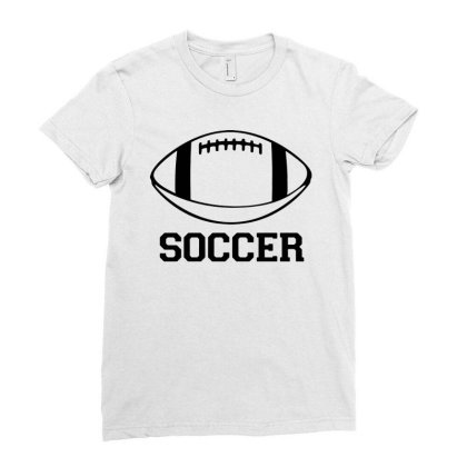 Soccer Black Version Ladies Fitted T-shirt Designed By Tillyjemima Art