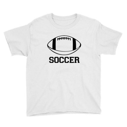 Soccer Black Version Youth Tee Designed By Tillyjemima Art