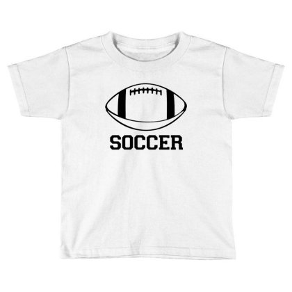 Soccer Black Version Toddler T-shirt Designed By Tillyjemima Art