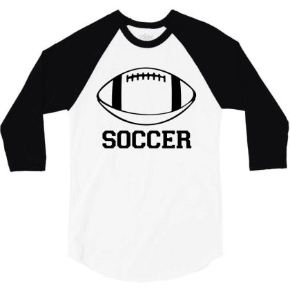 Soccer Black Version 3/4 Sleeve Shirt Designed By Tillyjemima Art