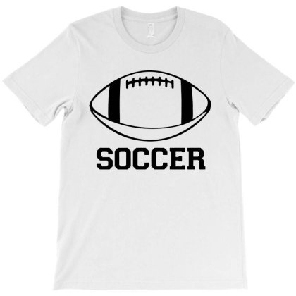 Soccer Black Version T-shirt Designed By Tillyjemima Art
