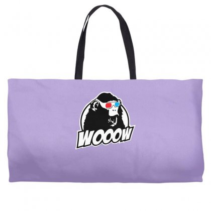 Wooow 3d Amazed Ape Weekender Totes Designed By Specstore