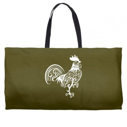 Rooster Pattern Ornament Weekender Totes Designed By Specstore