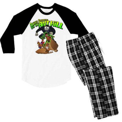 Always Stepping Men's 3/4 Sleeve Pajama Set Designed By Pinkanzee