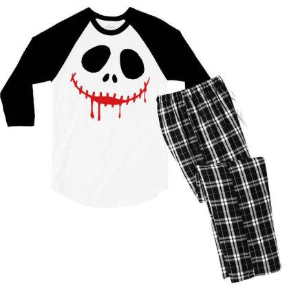 Bad Halloween Men's 3/4 Sleeve Pajama Set Designed By Pinkanzee