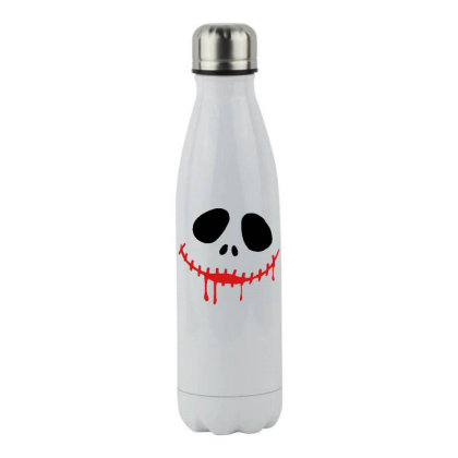 Bad Halloween Stainless Steel Water Bottle Designed By Pinkanzee