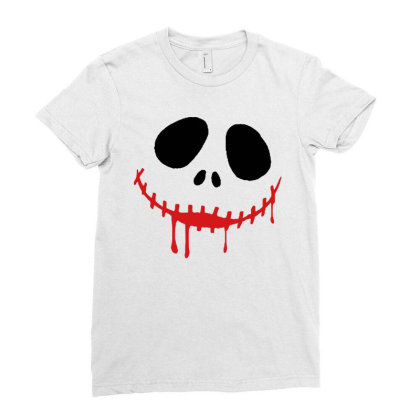 Bad Halloween Ladies Fitted T-shirt Designed By Pinkanzee