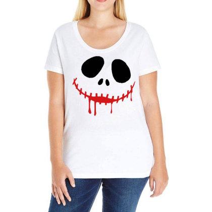 Bad Halloween Ladies Curvy T-shirt Designed By Pinkanzee