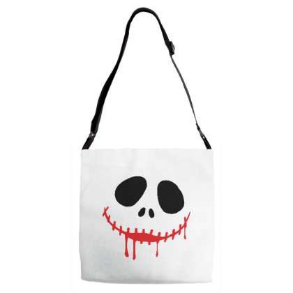 Bad Halloween Adjustable Strap Totes Designed By Pinkanzee