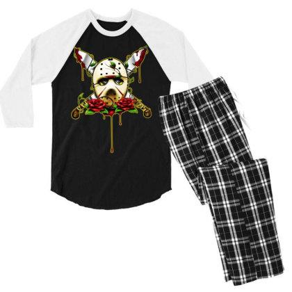 Halloween Horror Men's 3/4 Sleeve Pajama Set Designed By Pinkanzee