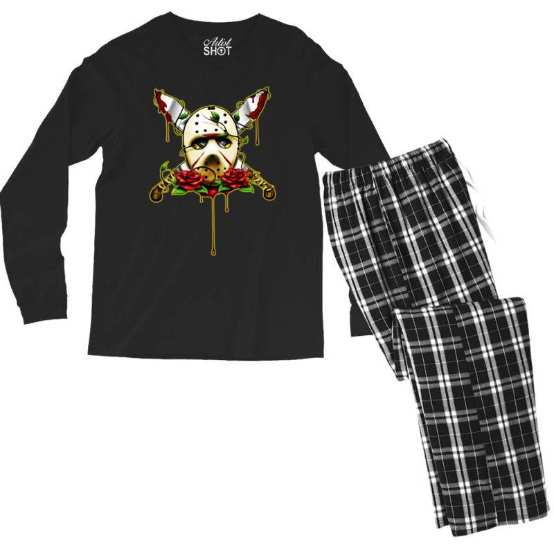 Halloween Horror Men's Long Sleeve Pajama Set | Artistshot