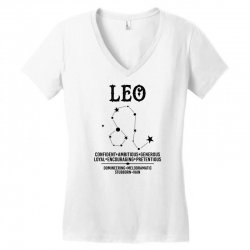 Leo Zodiac Sign Women's V-Neck T-Shirt | Artistshot