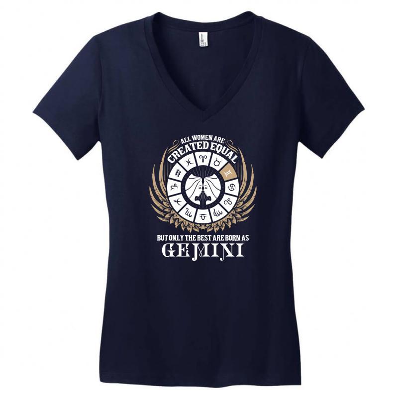 Gemini Women Women's V-neck T-shirt   Artistshot