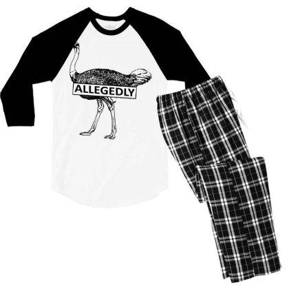 Letterkenny Pitter Patter Allegedly Men's 3/4 Sleeve Pajama Set Designed By Platinumshop