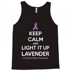 Keep Calm And Light It Up Lavender (For General Cancer Awareness) Tank Top | Artistshot
