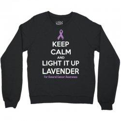 Keep Calm And Light It Up Lavender (For General Cancer Awareness) Crewneck Sweatshirt | Artistshot