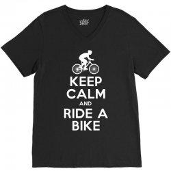 Keep Calm and Ride a Bike V-Neck Tee | Artistshot