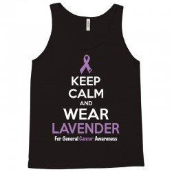 Keep Calm And Wear Lavender (For General Cancer Awareness) Tank Top | Artistshot