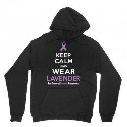 Keep Calm And Wear Lavender (For General Cancer Awareness) Unisex Hoodie | Artistshot