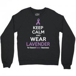 Keep Calm And Wear Lavender (For General Cancer Awareness) Crewneck Sweatshirt | Artistshot