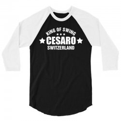 King Of Swing 3/4 Sleeve Shirt   Artistshot