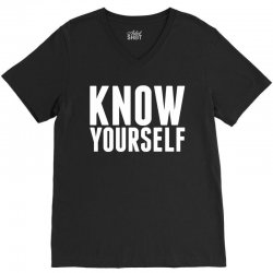 Know Yourself V-Neck Tee | Artistshot
