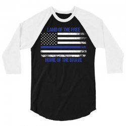 Land Of The Free, Home Of The Brave 3/4 Sleeve Shirt   Artistshot