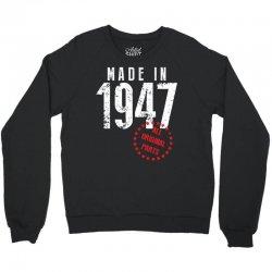 Made In 1947 All Original Parts Crewneck Sweatshirt | Artistshot