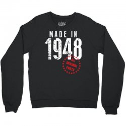 Made In 1948 All Original Parts Crewneck Sweatshirt | Artistshot