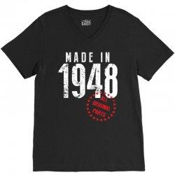 Made In 1948 All Original Parts V-Neck Tee | Artistshot