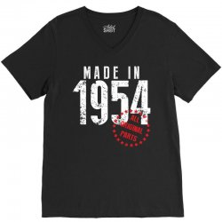 Made In 1954 All Original Parts V-Neck Tee | Artistshot