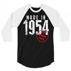 Made In 1954 All Original Parts 3/4 Sleeve Shirt | Artistshot
