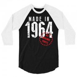 Made In 1964 All Original Parts 3/4 Sleeve Shirt | Artistshot