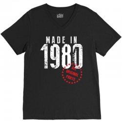 Made In 1980 All Original Parts V-Neck Tee | Artistshot