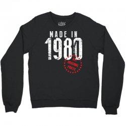 Made In 1980 All Original Parts Crewneck Sweatshirt | Artistshot