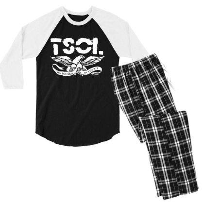 Tsol Eagle Men's 3/4 Sleeve Pajama Set Designed By Pinkanzee