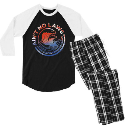 Trevor Wallace White Claw Men's 3/4 Sleeve Pajama Set Designed By Pinkanzee