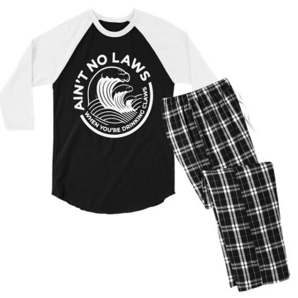 Trevor Wallace White Claw For Dark Men's 3/4 Sleeve Pajama Set Designed By Pinkanzee