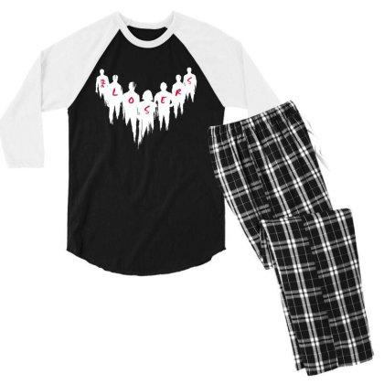 The Movies Men's 3/4 Sleeve Pajama Set Designed By Pinkanzee