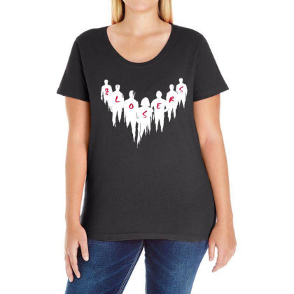 The Movies Ladies Curvy T-shirt Designed By Pinkanzee