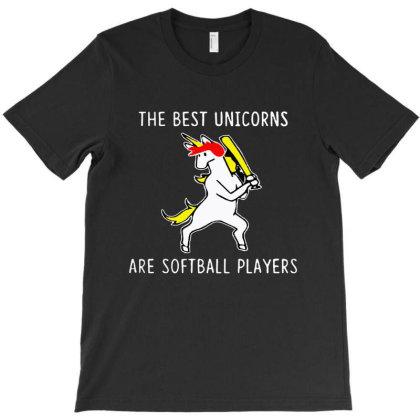 The Best Unicorns Are Softball Player T-shirt Designed By Pinkanzee
