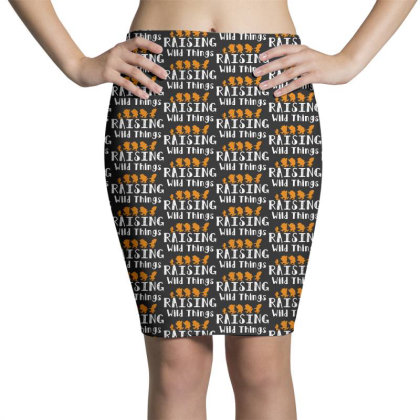 Raising Wild Things Pencil Skirts Designed By Pinkanzee