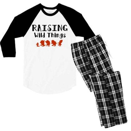Raising Wild Things Hot Men's 3/4 Sleeve Pajama Set Designed By Pinkanzee