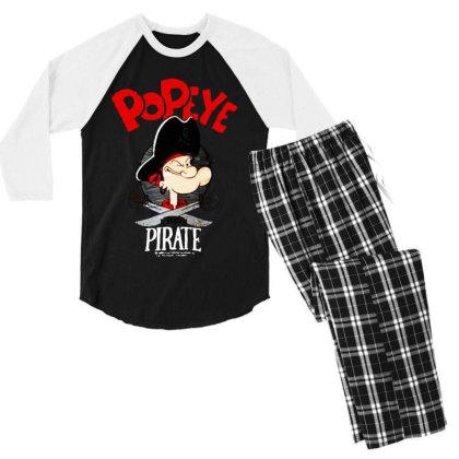 Goes Pirate Men's 3/4 Sleeve Pajama Set Designed By Pinkanzee